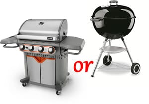 gas or charcoal grill choice