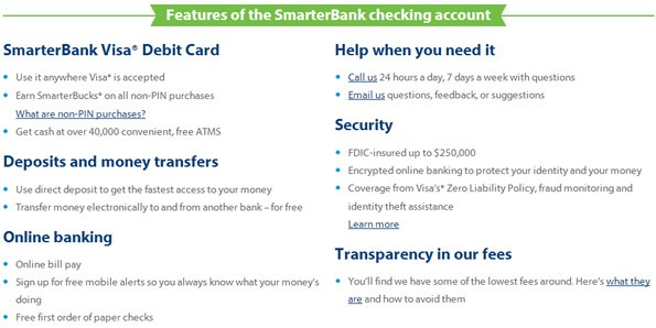 smarterbank review checking account features