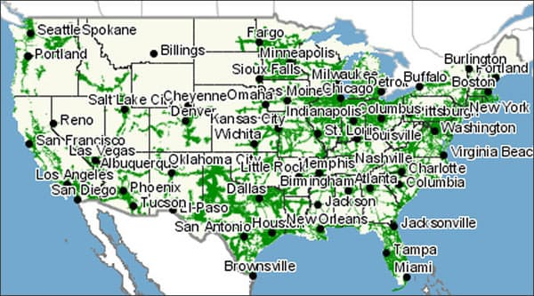 Virgin Mobile Coverage Map