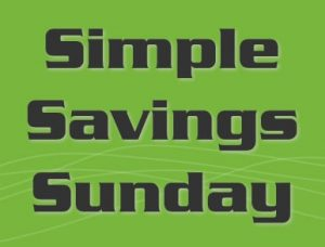 simple savings sunday tips