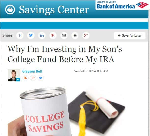 Why I Choose to Save for College Instead of Retirement