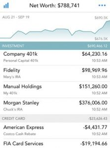 Personal Capital Net Worth Monitor