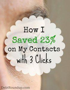 How I saved on my contact lens purchase