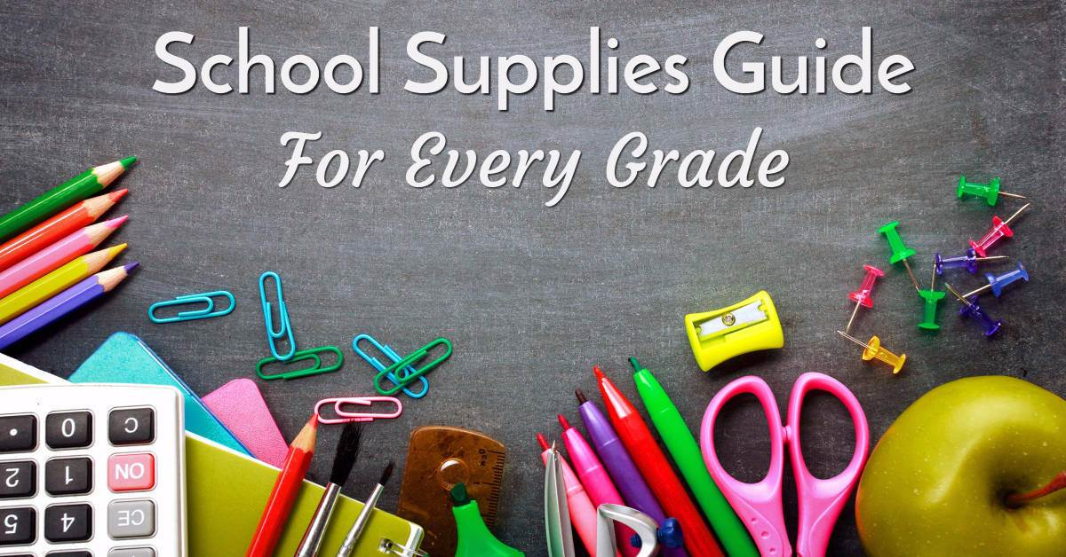 Free Back to school supplies guide for every grade