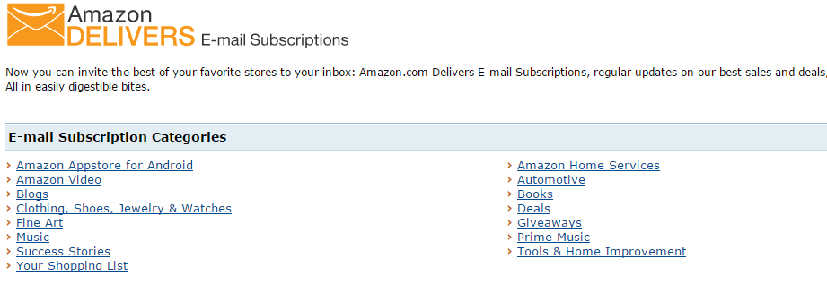 Amazon Delivers emails
