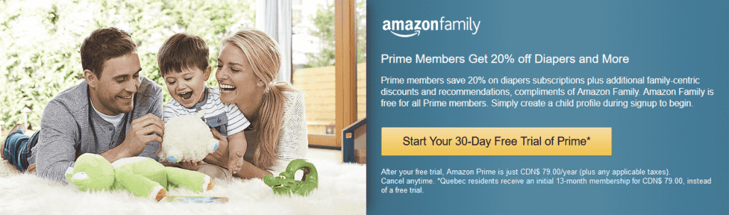 Amazon Family signup