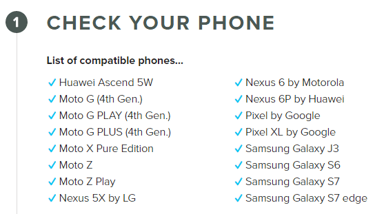 Republic Wireless Bring Your Own Phone device list
