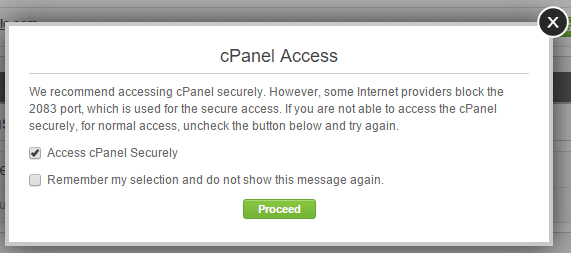 SiteGround cPanel Access