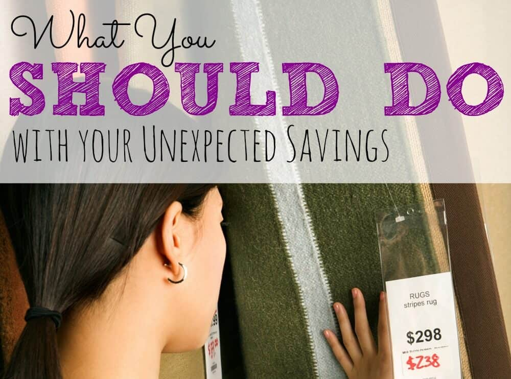 What you should really do with unexpected savings