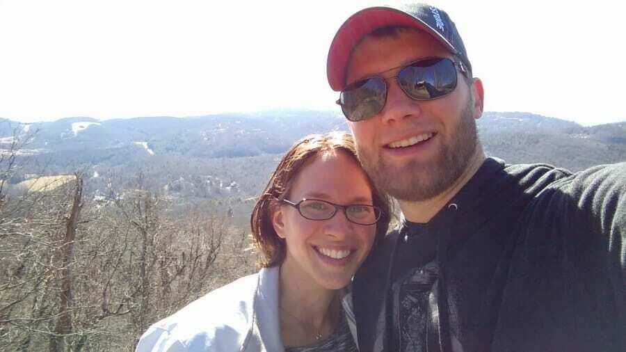 My wife and I in Boone