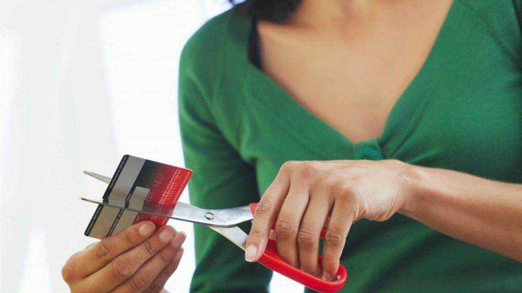 Cutting up credit cards to get out of debt