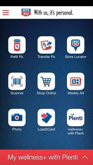 Rite-aid mobile app home screen