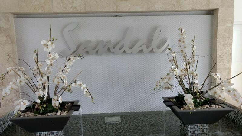 A sign greeting us to Sandals Montego Bay