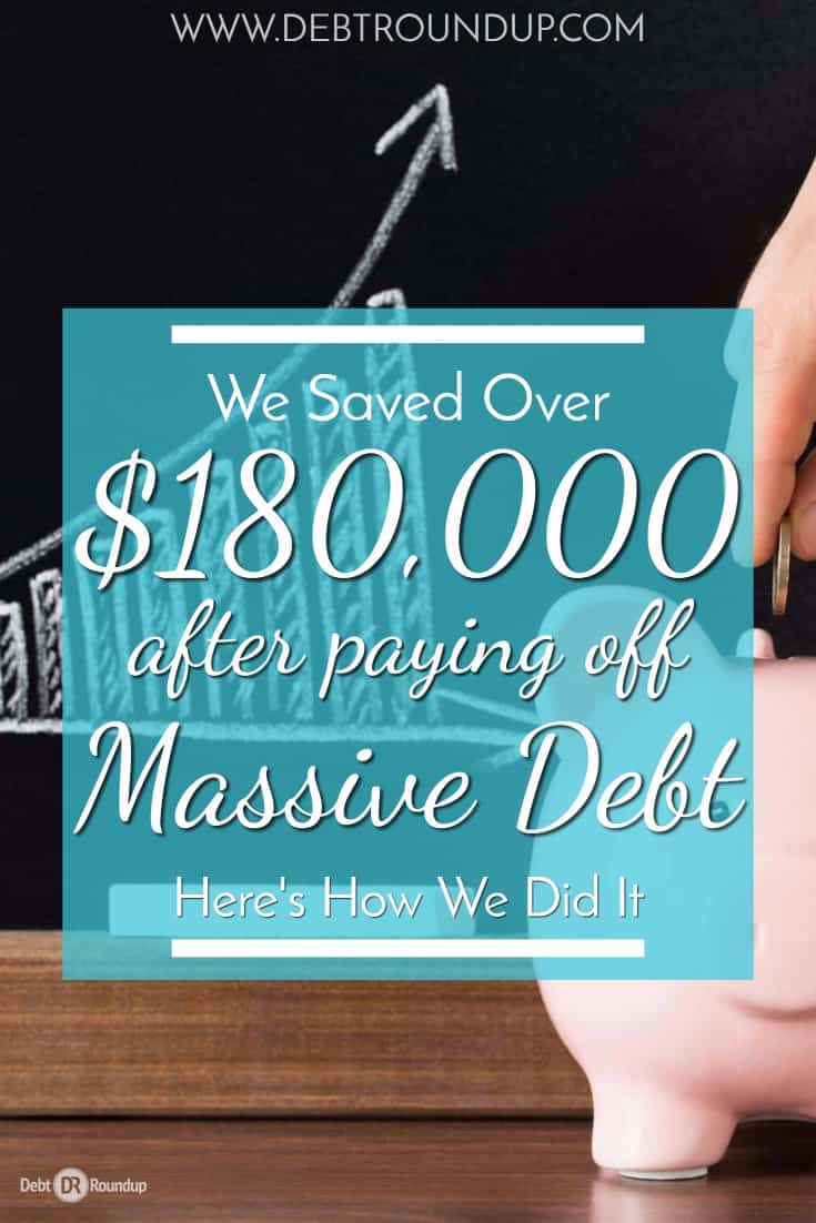 saving a lot of money after paying off a lot of debt