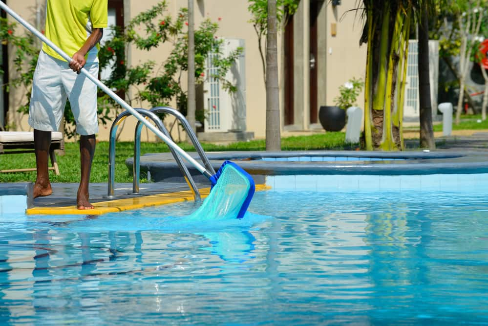 Earn extra income cleaning pools