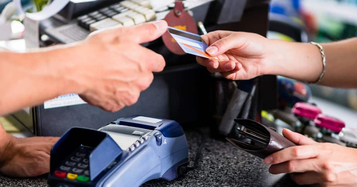 using your credit card over the counter to pay like a debit card